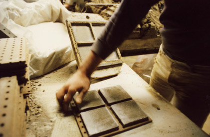 Hand Making Tile