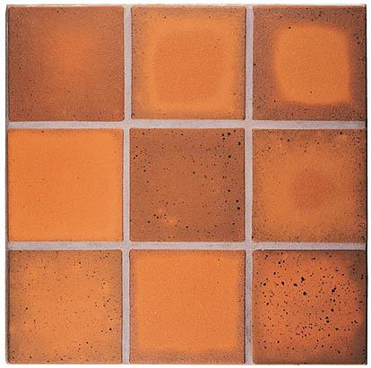 Unglazed Quarry Paver Collection - Scarlet Flashed Blend