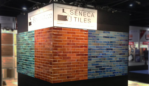 Seneca Tiles Coverings Booth - SenecaStudio Water Lily, Amber Waves, Blue Lagoon