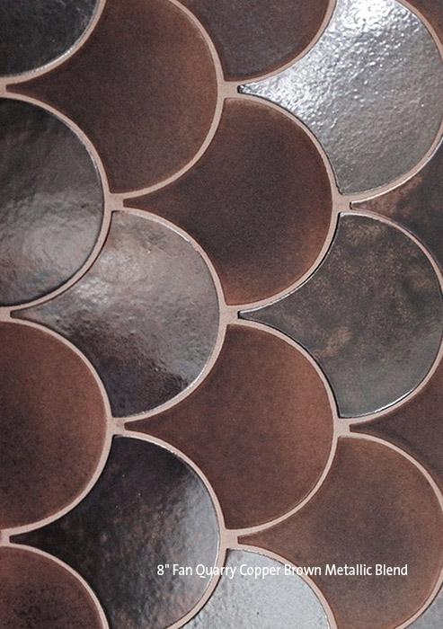 """8"""" Fan Copper Brown Blend"""