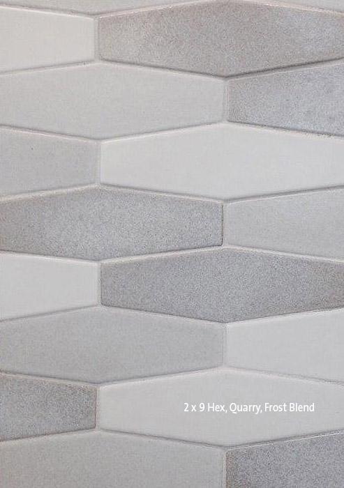 2 x 9 Hex Quarry Frost Blend